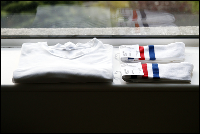 Tuukka13 - White Essentials - The Perfect White T-Shirt by James Perse and Classic Striped Socks by AA - 1