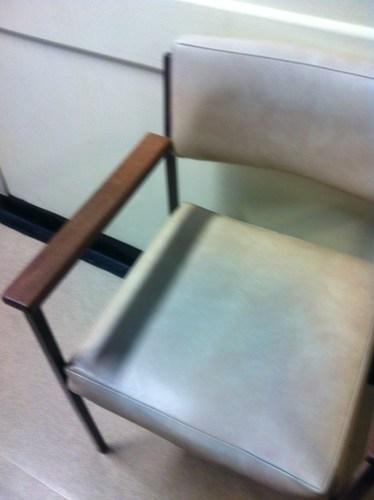 Chair in Addenbrooke's A&E