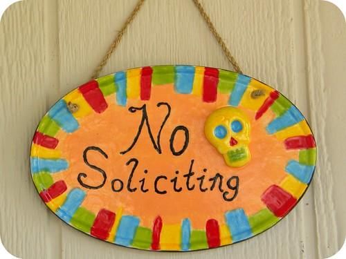 No Soliciting!