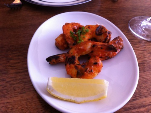 Barbequed local prawns - Clarences