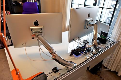 Rear of desk