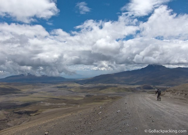 Downhill mountain biking Cotopaxi Volcano