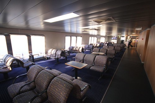Passenger lounge of the MV Sorrento