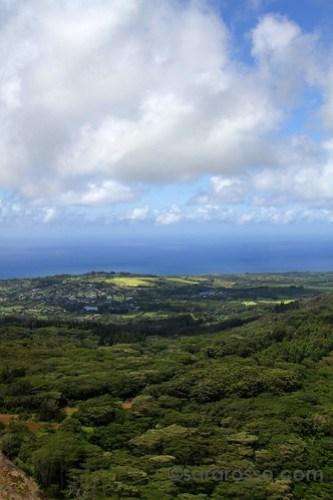 Kauai from the helicopter ride, Kauai, Hawaii