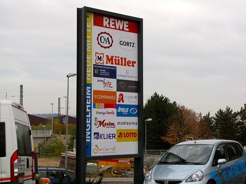 Etwa 20 Geschäfte in Neue Mitte Ingelheim (ca. 8 aus Region)