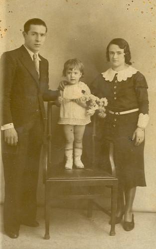 Paquita y sus padres