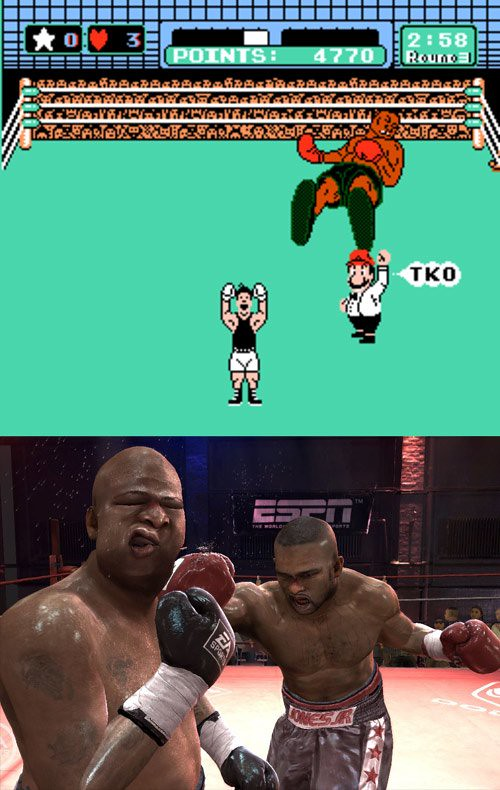Mike Tyson's Punch Out vs Fight Night Round 3