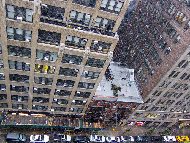 October Snow in New York City