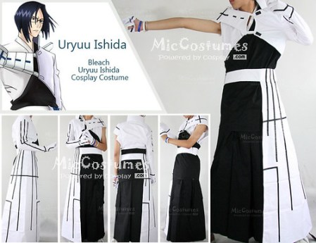 Bleach Uryuu Ishida New Cosplay Costume1