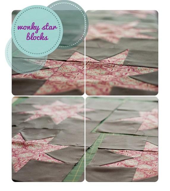 WIP:: Wonky Star Quilt Blocks