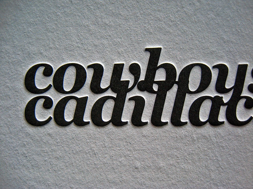 Cowboys & Cadillacs Letterpress Cards