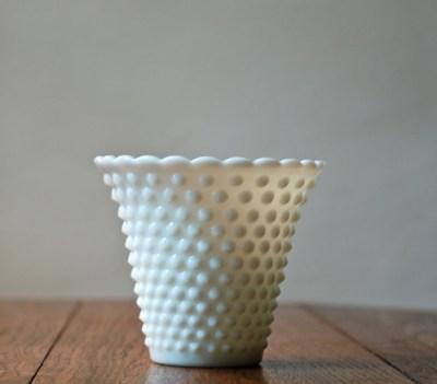 vintage hobnail glass vase