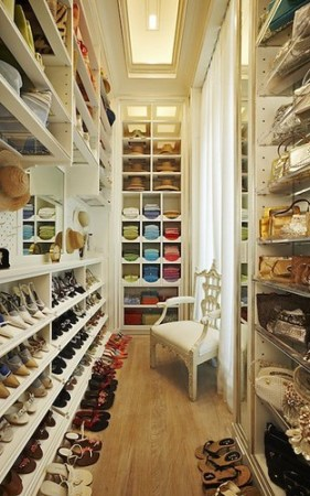 narrow dream closet