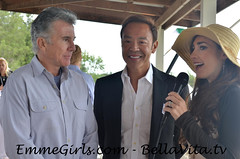 EmmeGirls CEO Emme Porter interviewing John Walsh from America's Most Wanted and Robert Do at Green Cup of Polo