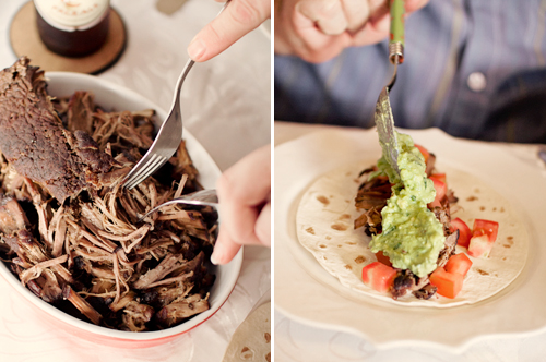 brisket tacos with tequila lime guacamole
