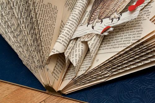Altered Books Great Horned Owl-3