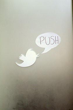 Twitter door Push