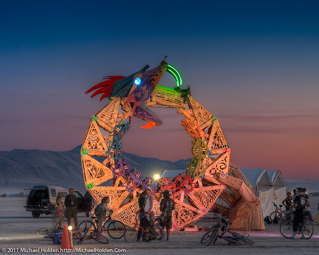"""""""Ouroboros"""" by the Flipside CORE project, Burning Man 2011"""