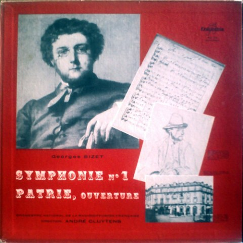 FR COLUMBIA FCX-273 ANDRE CLUYTENS, ONRF BIZET: SYMPHONY No.1, PATRIE-OVERTURE