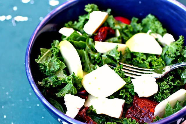 kale + apple salad
