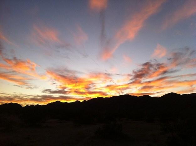 Sunset Over Joshua Tree NP
