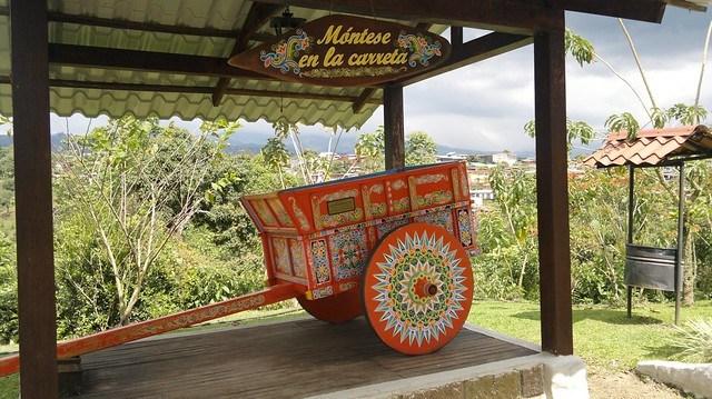 Oxcart at Espiritu Santo Coffee Plantation, Naranjo, Costa Rica
