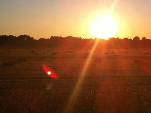 Hay Bales and Sunsets 2 of 2