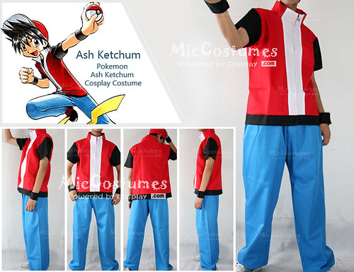 Pokemon Red Cosplay Costume - Miccostumes model