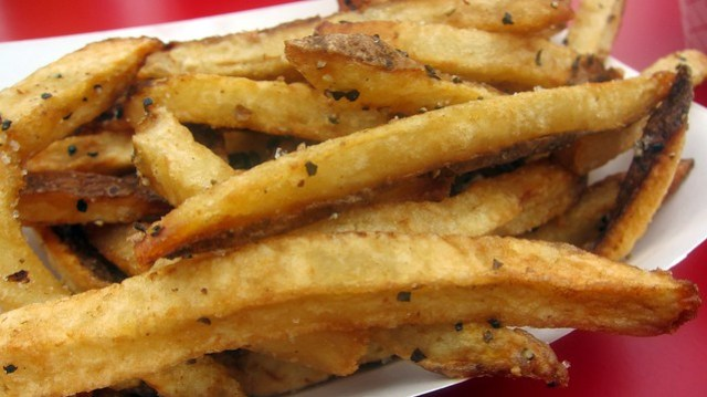 french fries at ringside