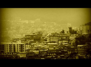 a view of Kohima, the city on a hill
