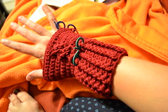 WIP: Cabled Mitts, right hand