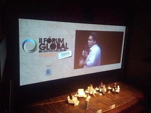Marcelo Furtado do @GreenpeaceBR falando da importância da mobilização para um planeta mais sustentável #avidaquernoSWU #ForumSWU