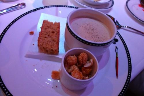 Corn trio - Buttered Popcorn soup, Cornbread, and Caramelized Popcorn - Animator's Palate