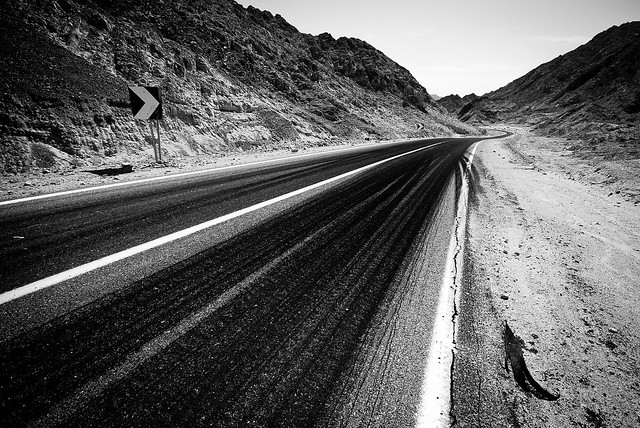 Road through interior Sinai