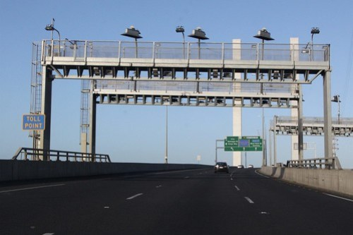 CityLink toll point on the Bolte Bridge southbound