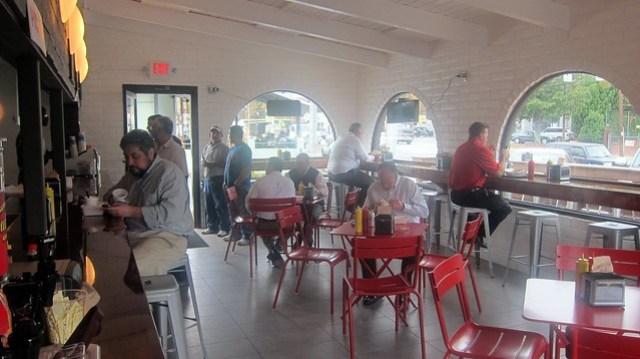 ringside franks & shakes dining room