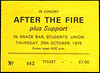 "19791025-After The Fire-Students' Union-Queens University-Belfast-25-Oct-1979-ticket-DC Cardwell<br /><span style=""font-size:0.8em;"">We'd seen this band at Greenbelt two month"