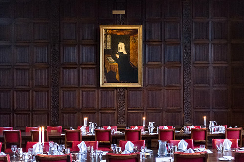 Lady Margaret Beaufort and the high table at St. John's dining hall