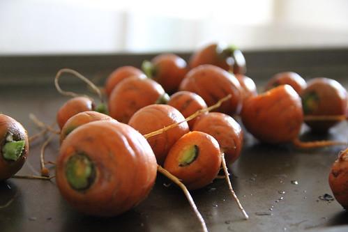 Roasted Parisian carrots