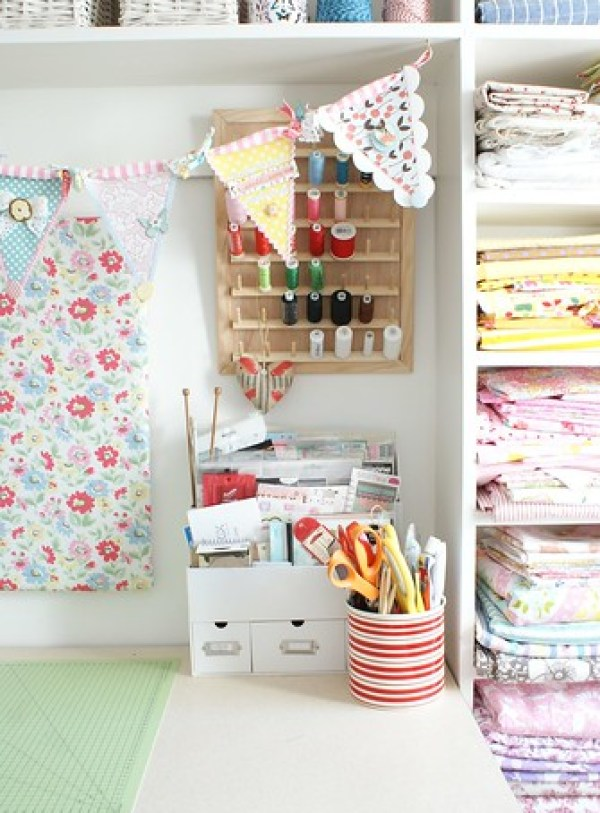 6507721219 4d6b469614 Beautifully Inspiring Sewing Room | MesseJesse
