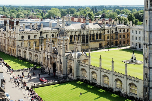 King's College seen from atop the Great St. Mary's church tower