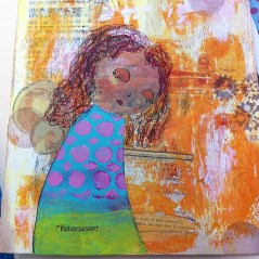 A nameless sadness... Art journal page about p...