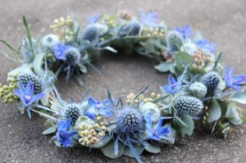 Floral Crown — Lora Losinger of Sophisticated Floral Designs in Portland, Ore.