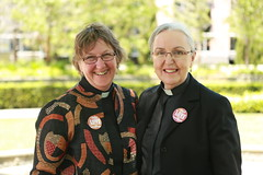 Deacons Lucy Morris and Eira Clapton