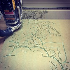 Helping @vampindustries with a #foodtruck #caravan for #TukkaTuk #cncmilling #carving #mdf #indian