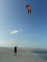Jay with his kiteboarding kite