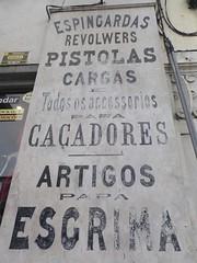 Ecriteau à Lisbonne