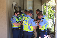 Police conferring