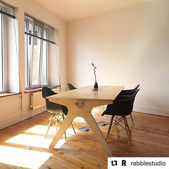 #Repost @rabblestudio Stunning Team Desk from @open_desk in @rabblestudio #opendesk #opensource #coworking #jointherabble #cncmilling #plywood #make