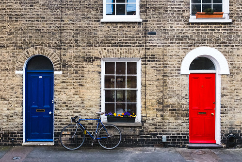 Blue and red #DoorsOfCambridge